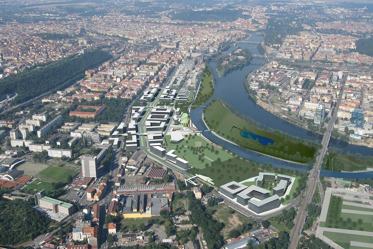 Rohansky Ostrov Masterplan, Prague, Czech Republic